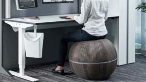 Grosse balle gonflable servant d'assise pour bureau ergonomique marque Gotessons