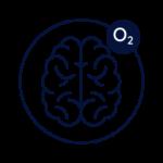 Pictogramme cerveau oxygéné