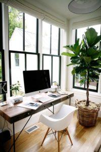 Home Office, télétravail, exemple de bureau aménagé